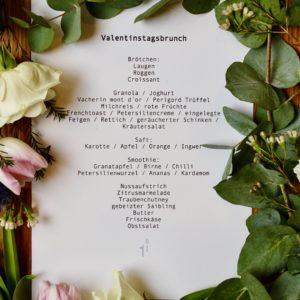 Valentinstags-Brunch Menü klassisch